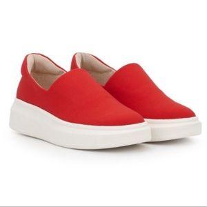 Sam Edelman Nerah Fashion Platform Sneaker Red 9.5